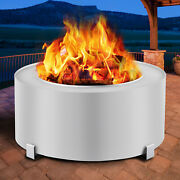 Vevor Stove Bonfire Fire Pit 27 Inch Stainless Steel Outdoor Smokeless Fireplace