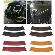 Tassel Saddle Bags Pu Leather Fringe For Harley Chieftain Chief Vintage