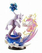 Gemex Series Pokemon Mew And Mewtwo About 190mm Pvc Painted Finished Figure