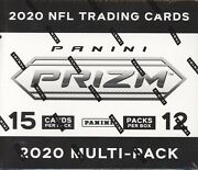 2020 Panini Prizm Football Cards Factory Sealed 12 Pack Multi Pack Cello Box Nfl