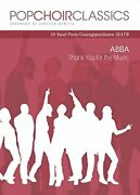 Pop Choir Classics Abba - Thank You For Music Ssatb Excellent Condition