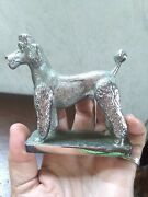 Vtg Lejuene Chrome Car Mascot French Clip Poodle Hood Ornament Made In England