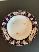 12 English 10 Porcelain Shallow Bowls Worcester Chelsea Bird Insects Pattern