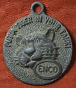 1960s Enco Esso Standard Oil Put A Tiger In Your Tank Key Mailer Pendant Tag