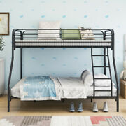 Twin-over-full Metal Bunk Bed With Enhanced Upper-level Guardrail Us Stock