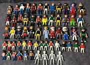 Large Lot Playmobil Figures + Carry Case + Accessories