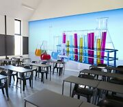 3d Chemistry Experiment Zhu3249 Wallpaper Wall Mural Removable Self-adhesive Zoe