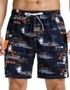 Nonwe Menand039s Quick Dry Soft Relaxed Fit Drawsting Swim Trunks