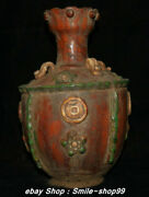 12.2 Old Tang San Cai Chinese Pottery Dynasty Money Coin Bottle Vase Pot Jar