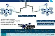 Double Dome Ot Light Led Operation Theater Lights Model Star 105 + 105 Ceiling