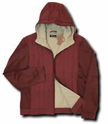 2500 Loro Piana Burgundy Hooded Voyager Jacket Size Xl Made In Italy