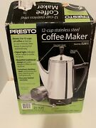 Presto 2 To 12 Cup Stainless Steel Electric Coffee Percolator