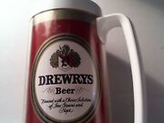 Rare Vintage Drewerys West Bend Thermo Serv Insulated Beer Mug Stein Cup