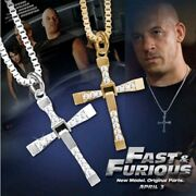 Cross Pendant Fast And Furious Dominic Toretto Vin Diesel Necklace Cubic Zircon