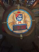 Old Style Beer Digital Clock Looks Like Stain Glass Lights Up
