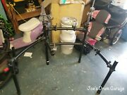 Roland Mds-9 V-drum Rack W/3 Pad Mounts 1 Ball Mount And 2 Cymbal Arms - 082121