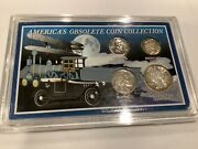 America's Obsolete Coin Collection 4 Coins Total In Display Case