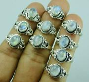 Rainbow Moonstone And Mixed 1000pcs Rings 925 Sterling Silver Plated Whole Lot