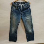 Levi 501xx Denim Pants Leather Patch Double-sided Tab Period Paint