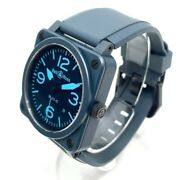 Bell And Ross Br03-92-cb Aviation Automatic Blue 42mm Ceramic W/box G Card Auth