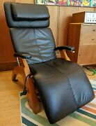 Human Touch Black Leather Zero Gravity Recliner Perfect Chair