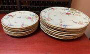 Castleton Sunnyvale China - 8 Dinner Plates, 8 Salad Plates, 8 Cups With Saucers