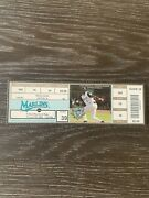 Miguel Cabrera Major League Debut Full Ticket And 1st Hr - Super Rare-