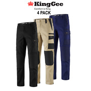 Kinggee 4 Pack Workcool Pro Plus Comfort Stretch Waistband Knee Pads Work K13004