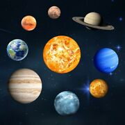 9pcs Pvc Wall Stickers Solar System Wall Mural Glowing Planets Wall Decals Room