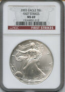 2003 American Silver Eagle.red Label, First Strikes