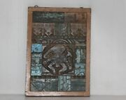 1800s Antique Wooden Wall Hanging Panel Ganesha Carving Collectible 11995