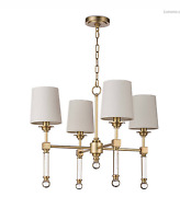Regina Andrew Crystal Tail Large Chandelier - Brass