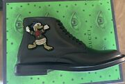 1850 Nwb Black Boots With Embroided Donald Duck And Marlin 7 Us 8