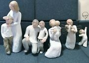 Set Of 5 Willow Treemother-son,father-son.grandma-baby, Angel With Dog,boy-hope