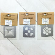 Country Tin Stencil Mini Quilt Plate Vintage 80s For Painting Or Embossing