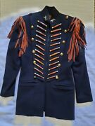 Double D Ranch Ranchwear Fringed Wool Cavalry Coat. Women's Size Small. Vintage.