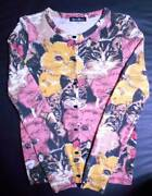 Hysteric Glamour Cat Pattern Knit Cardigan Cathead Head Cashmere Mixed