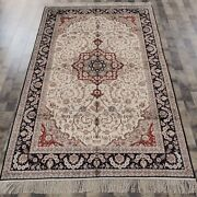 5and039x8and039 Handmade Silk Carpets Oriental Living Room Classic Indoor Rug 046m
