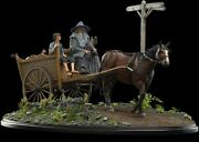 Weta Lord Of The Rings Masters Collection Gandalf And Frodo Cart Statue Ap/350