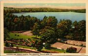 Postcard Gardens And Tennis Courts The Lakeside Eagles Mere Pa 1947
