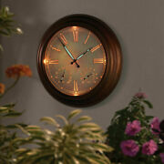 24 Outdoor Led Lighted Atomic Wall Clock Oversized Accurate Battery