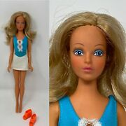 Vintage 1975 Ideal Tuesday Taylor Doll With Outfit Beauty Queen Magnetic Shoes