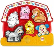 Fisher-price Laugh And Learn Farm Animal Puzzle Electronic Shape Sorting Toy Wi...