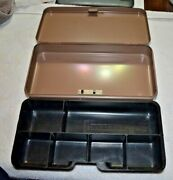 Vintage Metal Lit-ning Products Co Cash Money Box Coin Compartment Tray