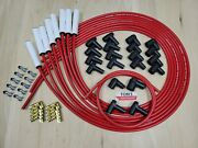 High Temp Universal Ceramic Red Taylor 8mm Spark Plug Wires Ford Hei And Points