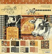 Graphic 45 4502059 Farmhouse Collection 12x12 Pack One Size Assorted