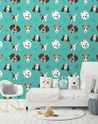 3d Puppy Head Zhu4353 Wallpaper Wall Mural Removable Self-adhesive Zoe