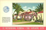 View Of Beautiful Homes At St. Petersburg Florida The Sunshine City Postcard