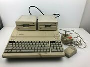Apple Ii Platinum With 2 Disk Drives And Game Controller And Mouse