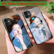 Custom Photo Tempered Glass Case For Iphone Unique Diy Photo Bumper Glass Cases